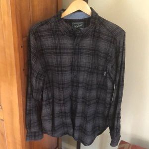 Woolrich black and grey button down L